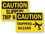 Slip and Trip Warning Signs