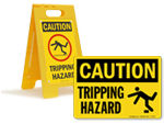 Tripping Hazard Signs