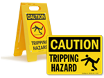 Tripping Hazard Signs