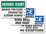 Truck Driver Policy Signs