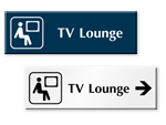TV Lounge Door Signs