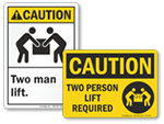 Two Person Lift Labels