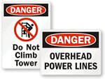 Utility Warning Signs