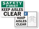 Warehouse Aisle Labels