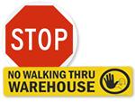 Warehouse Floor Stop Signs