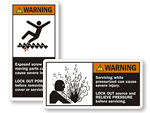 Conveyor Warning Labels