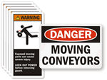 Warning Labels for Conveyors (CEMA)