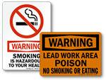Warning No Smoking Signs