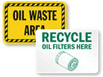 Waste Oil Signs