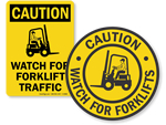Forklift Signs For Warehouse