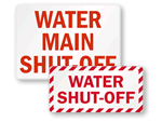 Water Shut-Off Signs
