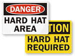 Wear Hard Hat Signs