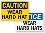 Wear Hard Hat Signs