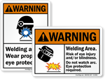 ANSI Welding Signs