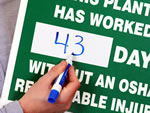 Mark-a-Day™ Dry erase Safety Scoreboards