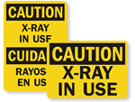 X-Ray in Use Signs