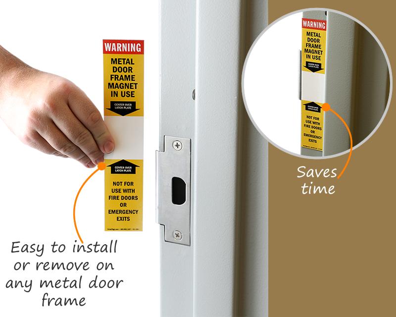 Door Latch Magnet · Door frame magnet & Door Latch Magnet | Door Frame Magnet - MySafetySign.com