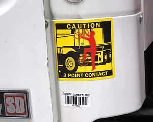 Contact 3 Point Label