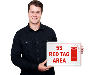 5S Red Tag Area Signs
