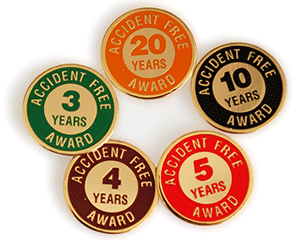 Accident Free Award Years Pin