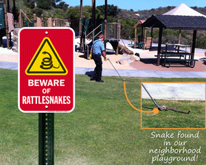Beware of snake sign