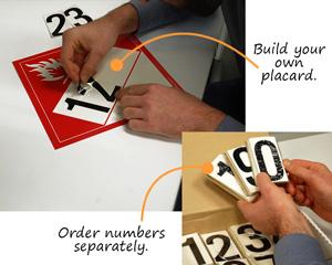 Blank 4-Digit DOT Hazmat Placards and Kits