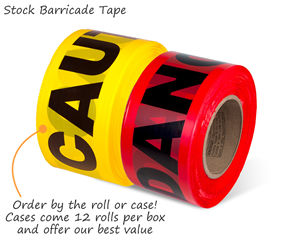 Caution Danger Barricade Tape