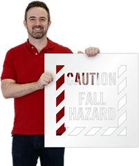 Caution Floor Stencils