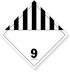 Class 9 Misc Dangerous Goods Placards