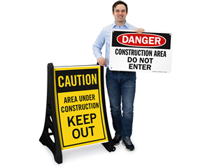 Construction area sign