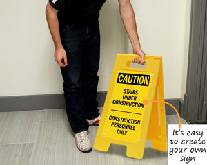 Construction floor sign