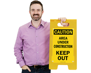 Construction Keep out floor sign