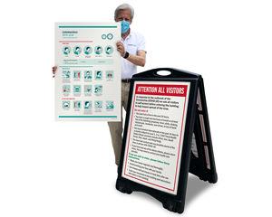 Corona Virus instruction Signs