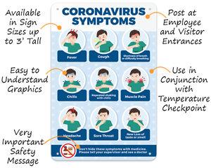 Corona Virus Symptom Signage
