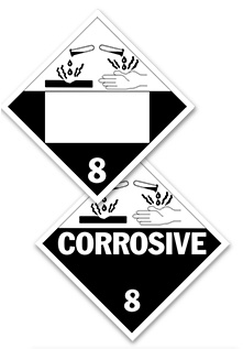 Corrosive Placards
