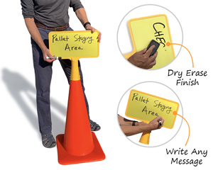 Create your own custom cone sign