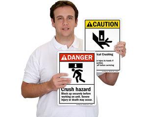 Crush Hazard Signs