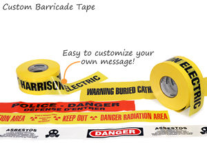 Custom Barricade Tape