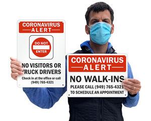 Custom Corona Virus Signs
