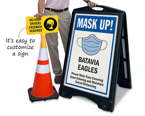 Custom face mask signs