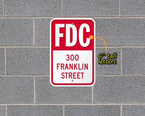Custom FDC sign