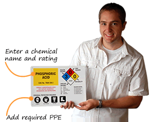 Customize Required PPE HazCom Signs