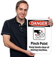 Custom Machine Hazard Signs