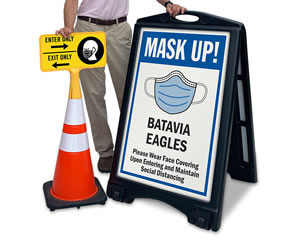 Custom mask up signs