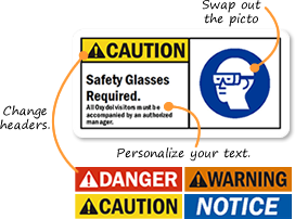 custom ansi signs labels custom ansi safety signs
