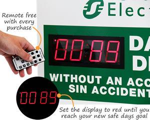 Custom safety scoreboard with digital display