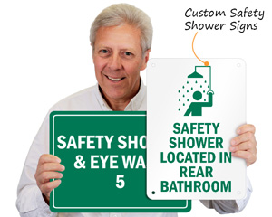 Custom Safety Shower Signs