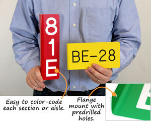 Easy to color-code each section or aisle.