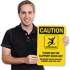 Custom Wet Floor Signs & Stencils