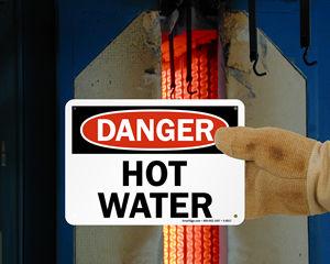 Hot Water Danger Sign